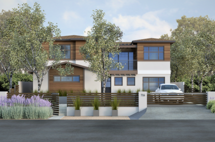 3D Rendering of a Custom Home Design by Eco Minded Solutions